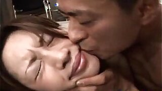 Asian stripteases hairy pussy and gets drilled - 10:26