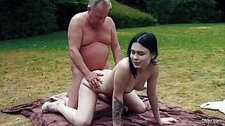 Young lezdom babe sucks cock and deepthroat it - 11:02