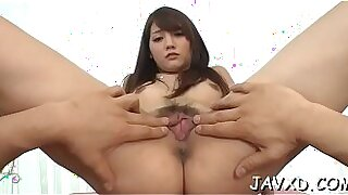 Hot beautiful asian pussyfucked on the double enormous couch - 5:08