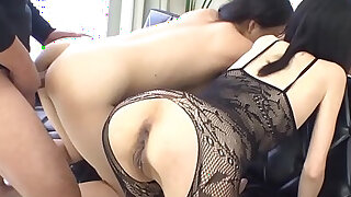 Oriental cowgirl riding and anal toying - 5:00