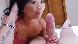 Asian mature stepmom knows what is best for him - 6:00