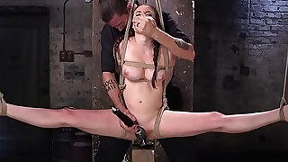 Brutal rope bondage and pussy torment - 5:00