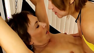 MATURE busty WIFE is my BITCH Lesbian Domination - 12:00