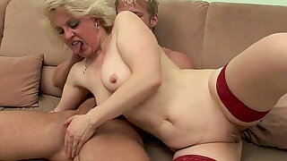OLD BITCH gets FUCKED HARD BY TEEN BOY !! - 6:00