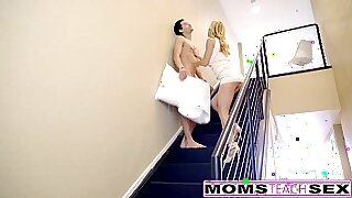 milf giving hot cream pie to sons exercise session - 12:55